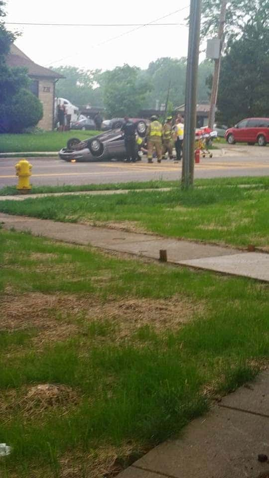Rollover Traffic Accident With Injuries on Main St in Antioch