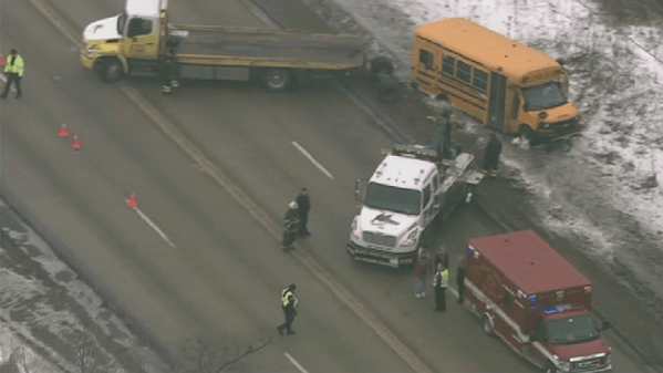School Bus Rollover With Injuries in Lindenhurst
