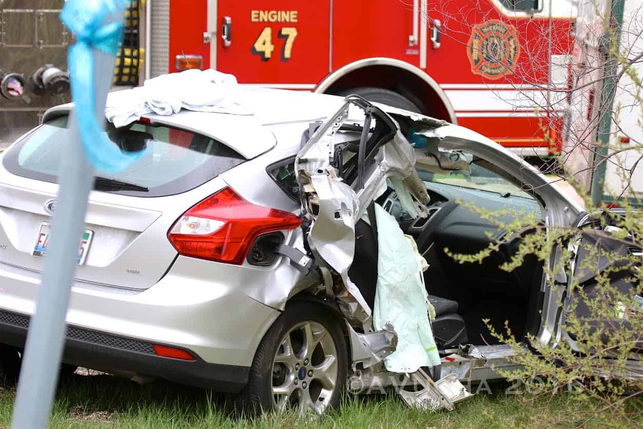 Woman hospitalized after extrication crash in Bull Valley