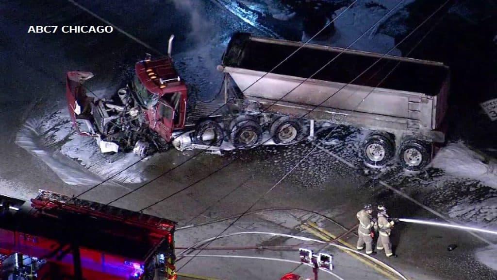 Rte 173 in Antioch closed after crash involving semi-truck