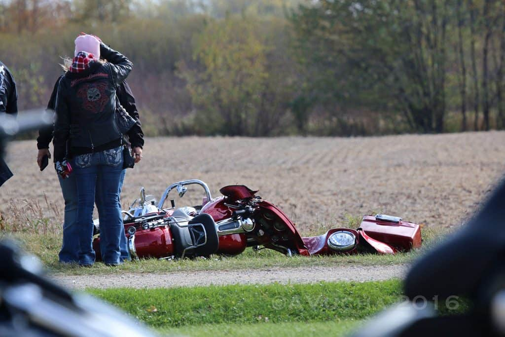 Two flown to hospital after Woodstock motorcycle crash; driver charged with DUI
