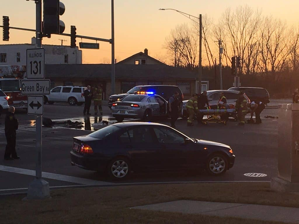 Lake County Sheriff Deputy involved in crash with semi & SUV