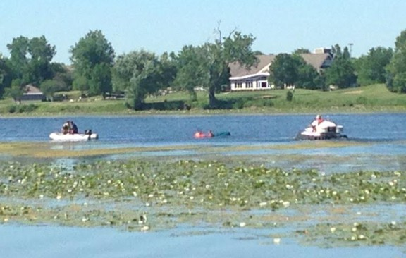 Two men rescued after canoe overturns on Lake Charles in Vernon Hills