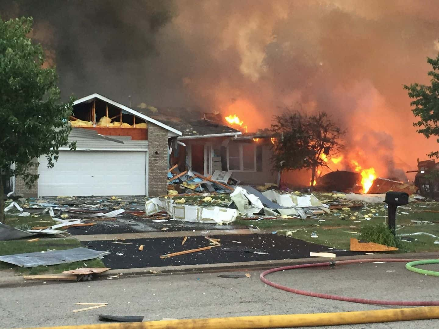 Marengo explosion damages more than 50 homes; 2 people injured