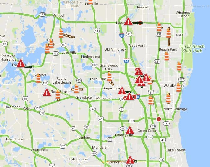 List of road closures in Lake County due to flooding for Monday Wi Winter Road Conditions Map on