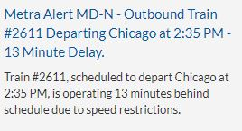 Metra trains on the Milwaukee North line were delayed several hours after the crash but are now back on schedule.