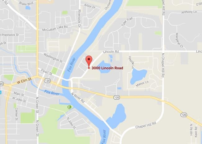 Map of the incident that occurred in the 3000 block of Lincoln Road near Emily Lane