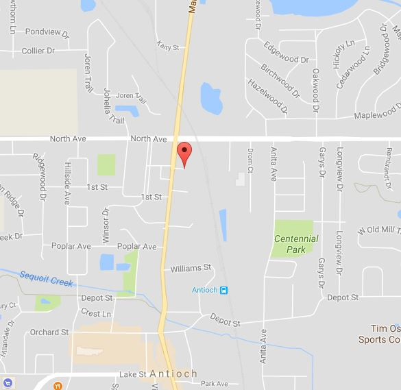 Map of the scene at the Joanna Court Apartment Complex near Main Street in Antioch