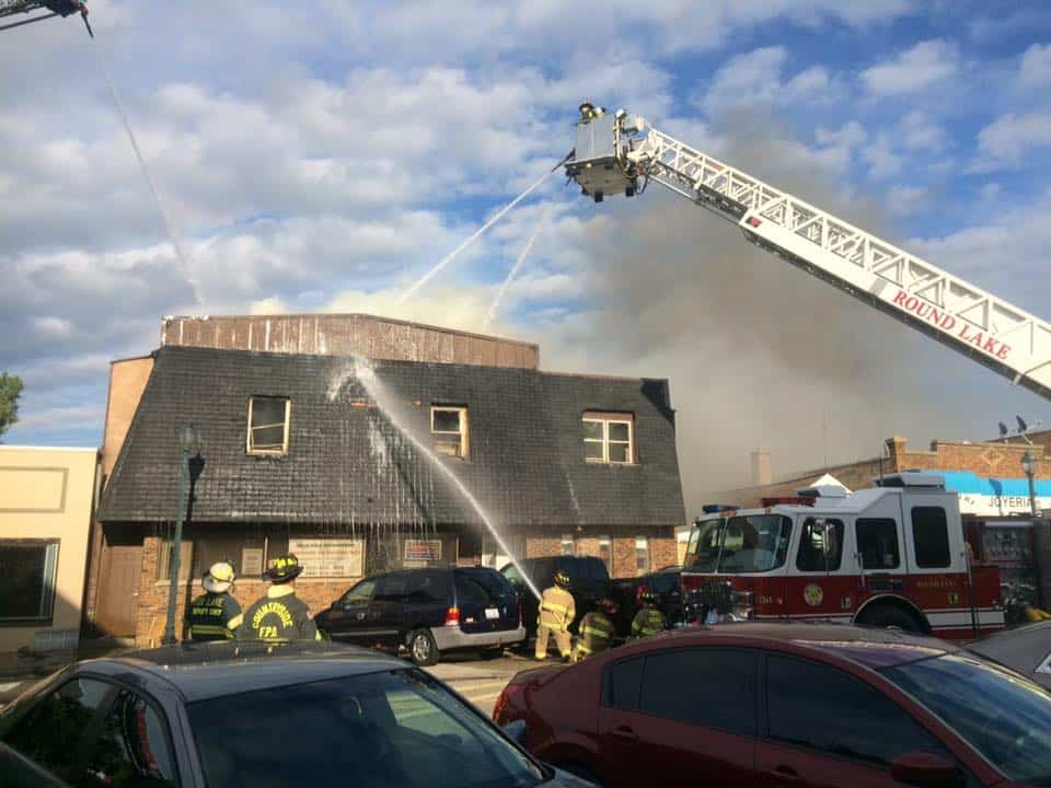 Coroner IDs man found dead inside 3-alarm building fire in Round Lake