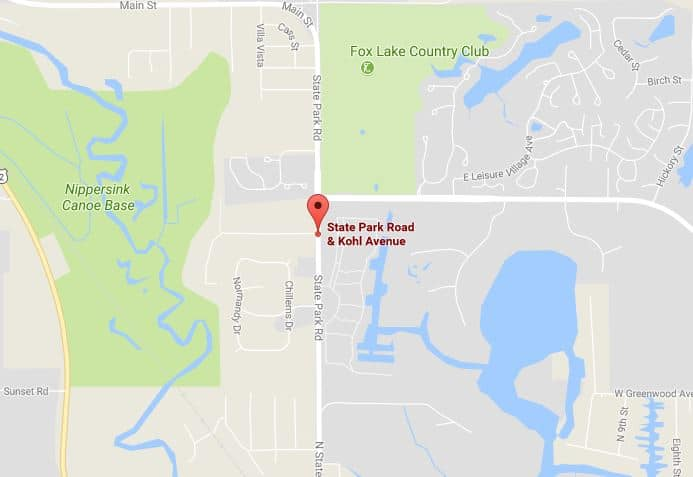 The crash happened near State Park Road & Kohl Avenue in Fox Lake.