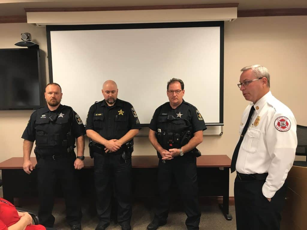 Three police officers recognized for saving boy who was shot in the head before being trapped in house fire in Grayslake