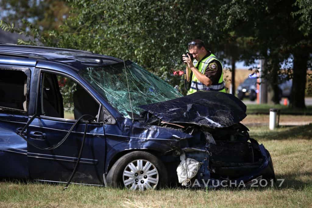 Adult and child ejected from car following crash near Harvard; 5 injured
