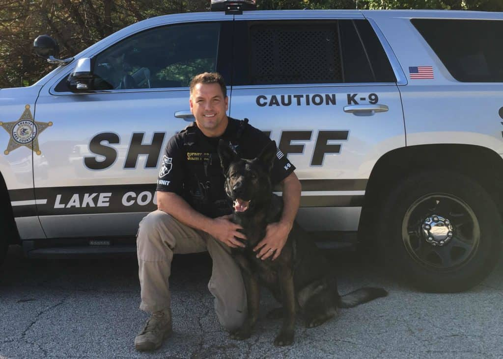 Lake County Sheriff Canine Dax is first dog ever to receive Valor Award