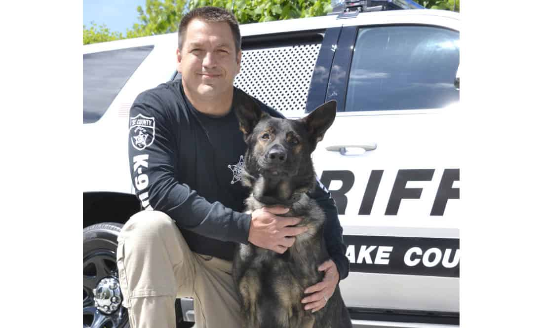 Deputy John Forlenza and his K-9 partner, Dax