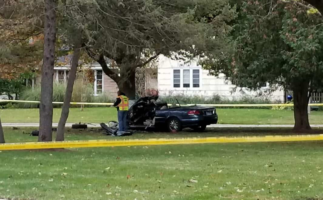 Coroner IDs 64-year-old Libertyville woman killed after car crashes into tree, bursts into flames