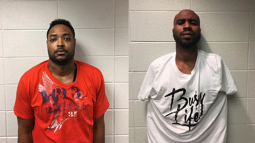 Mark. D. Easley, 32 (left) and Antuan J. Blackman, 34 (right)
