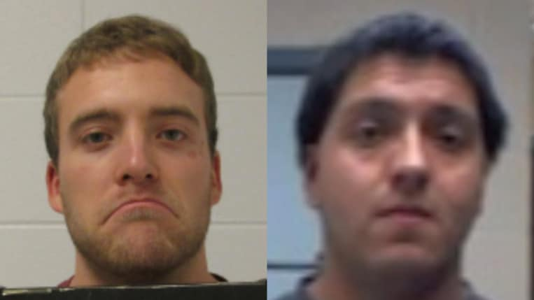 Justin M. Quist, 25, of Libertyville (left) and Luis M. Ramirez, 24, of Mundelein (right)