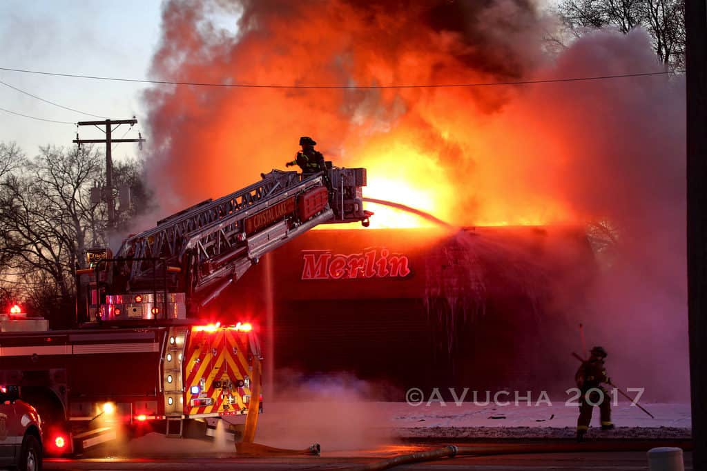 Crystal Lake automotive shop destroyed in extra-alarm fire