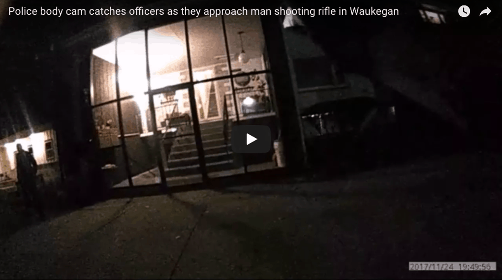 WATCH: Police body cam footage as officers approach man shooting rifle in Waukegan