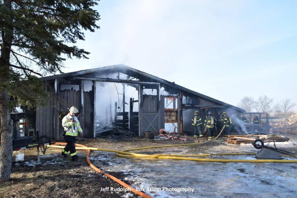 Several animals killed in Mettawa barn fire