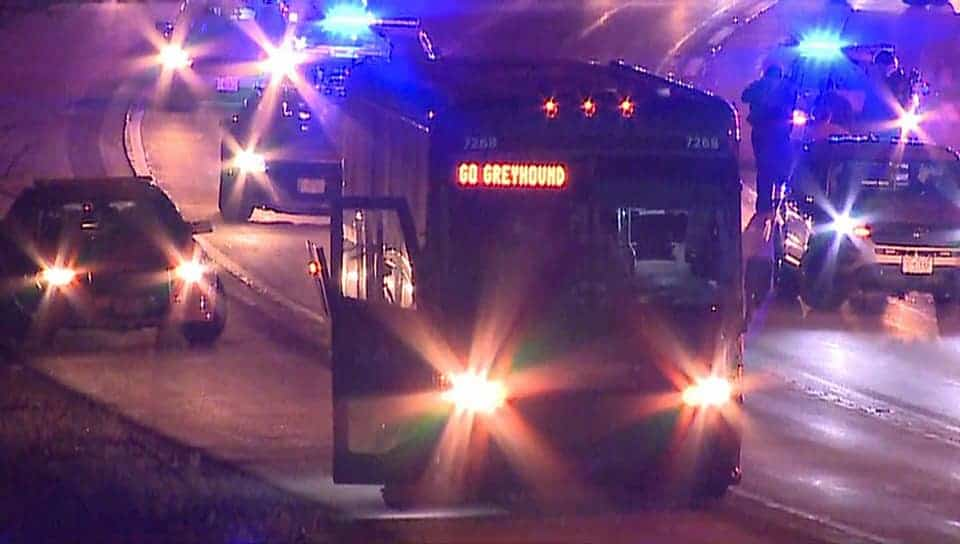 Man charged with terrorist threats following Greyhound bus pursuit near Illinois-Wisconsin border