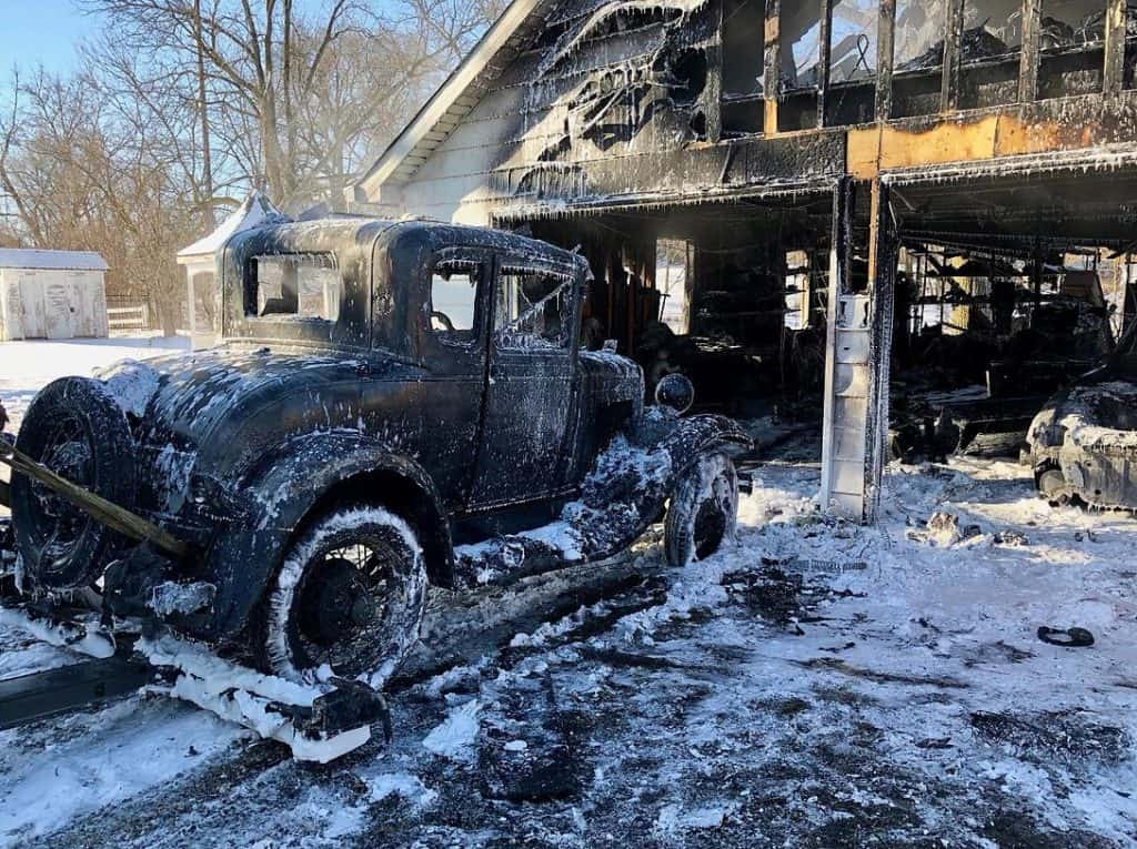 Antique cars, garage destroyed in Richmond fire