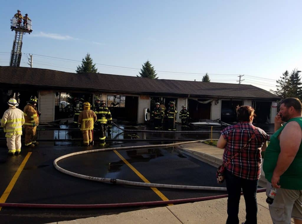 19 garages destroyed in extra-alarm fire in Round Lake Beach