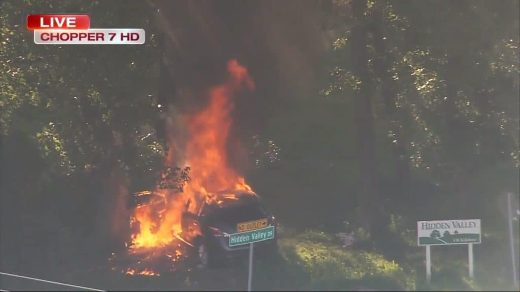 Screenshot from ABC7 Chopper7 live video