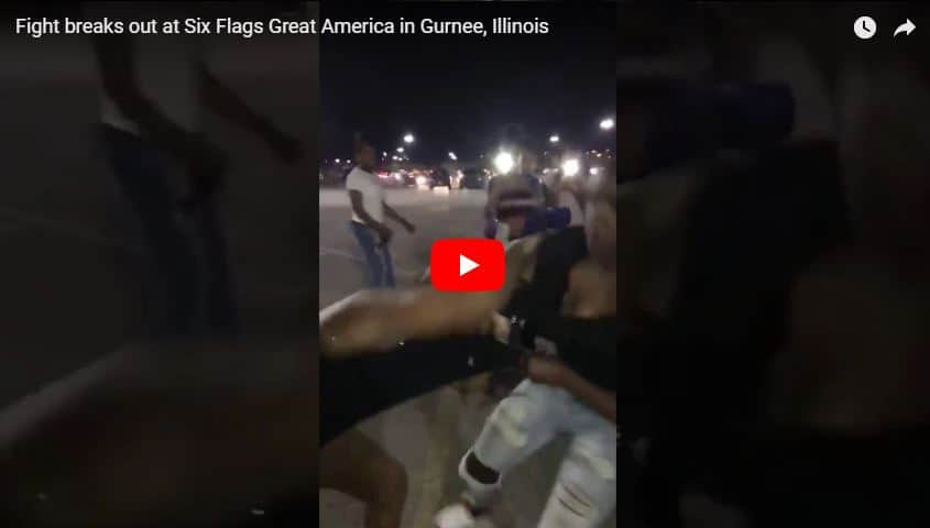 VIDEO: Two girls arrested after multiple fights break out at Six Flags