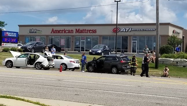 Three hospitalized, including police officer, after car crash in McHenry