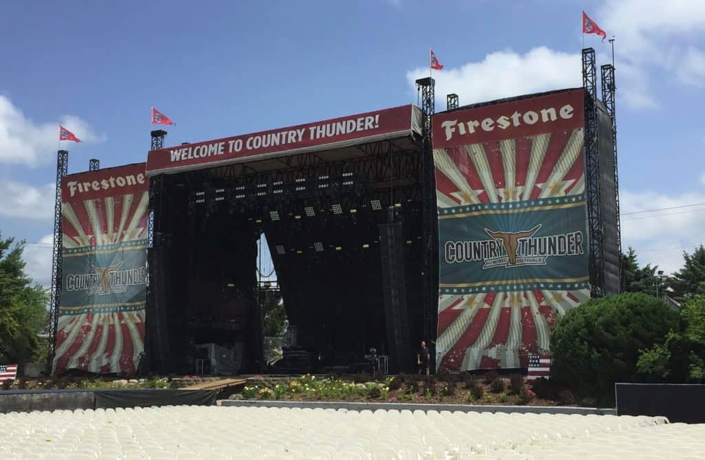 Woodstock woman struck by lightning, seriously injured at Country Thunder festival