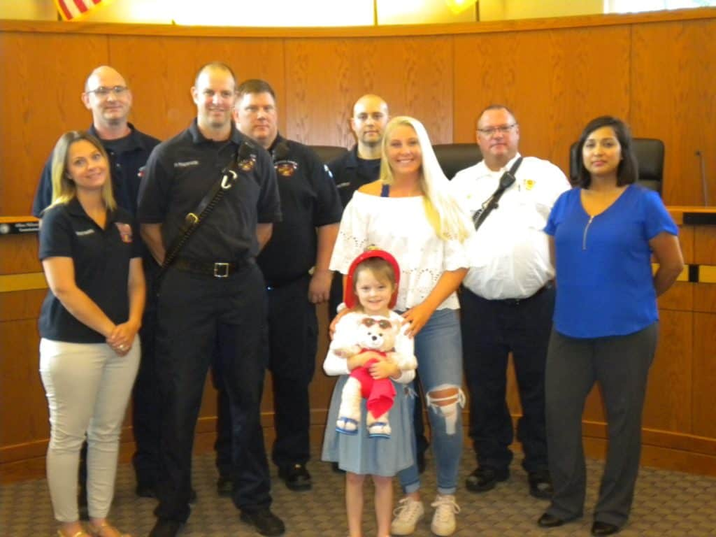 Crystal Lake first responders honored for rescuing girl found unresponsive in lake