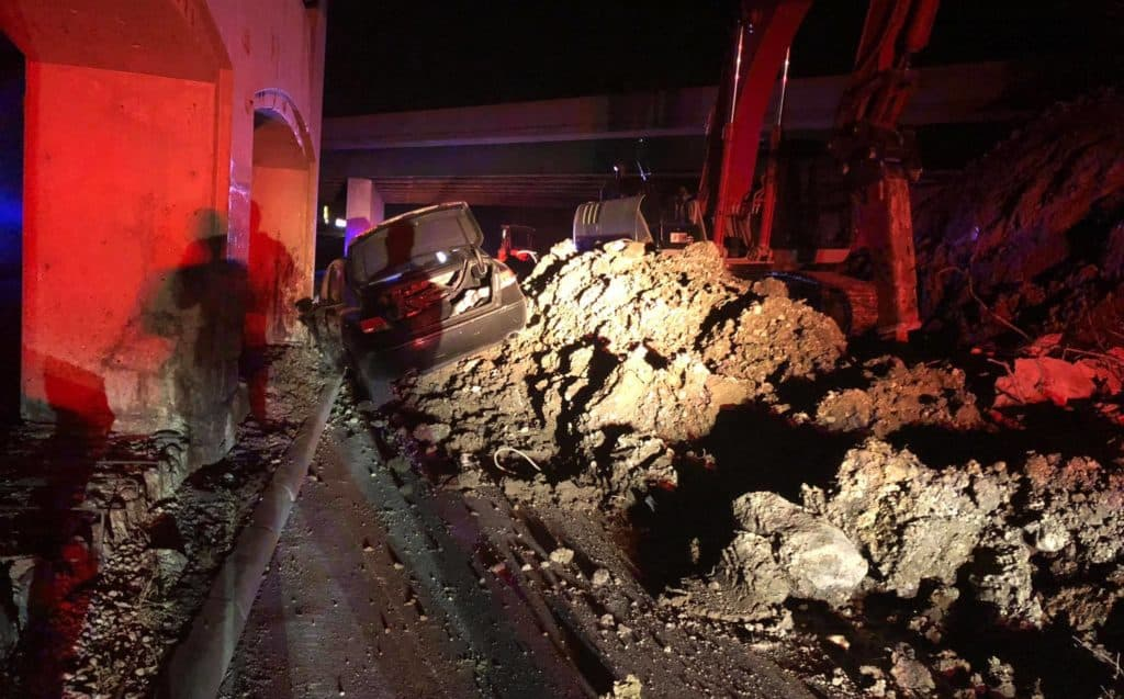 Driver cited after slamming into construction site on Route 45 in Libertyville