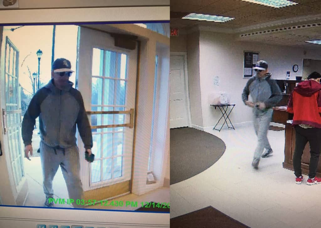 Police searching for bank robber in McHenry