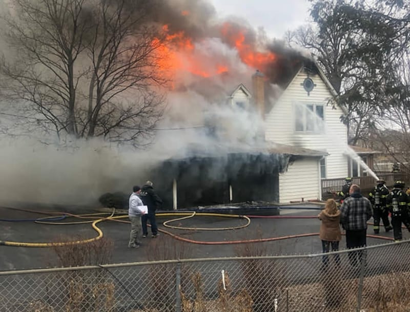 Extra-alarm fire destroys home in Johnsburg