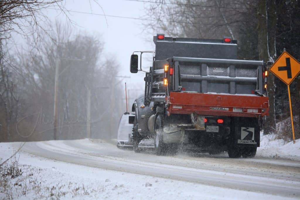Snow plow truck hits and kills man in Libertyville