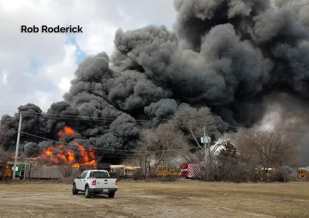 Massive 3-alarm fire in Crystal Lake caused by welding torch, fire chief says