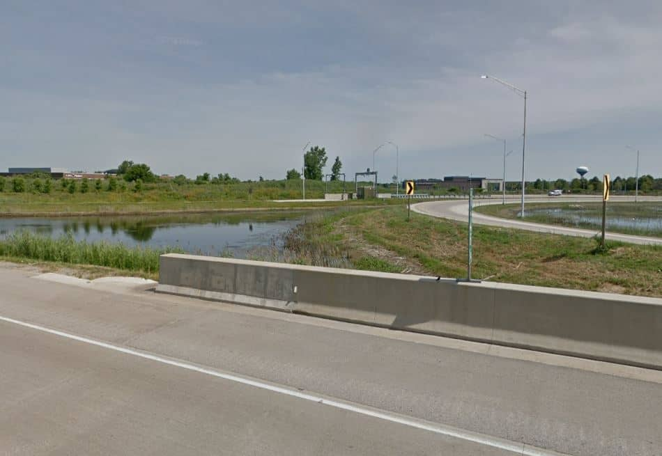 Boy dies after van rolls over into pond off I-90 in Huntley