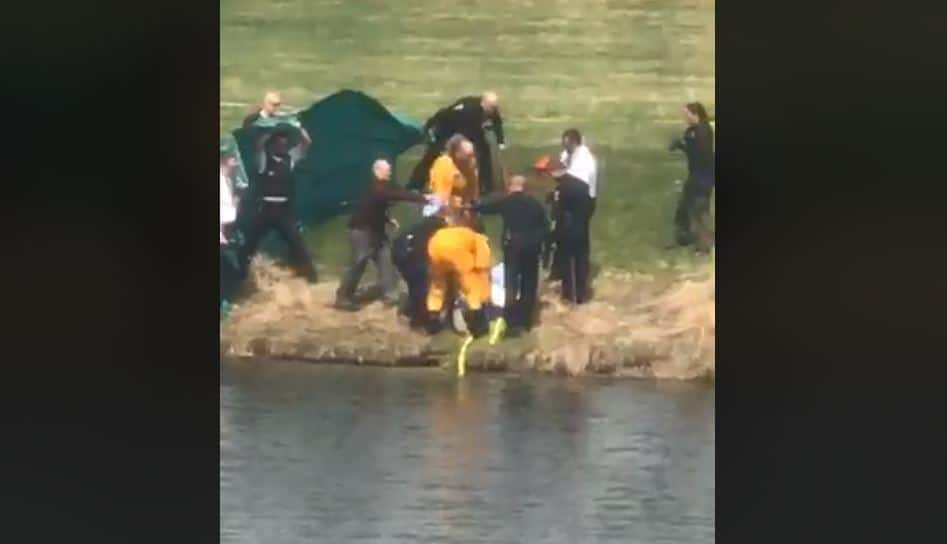 Body recovered from retention pond in Zion