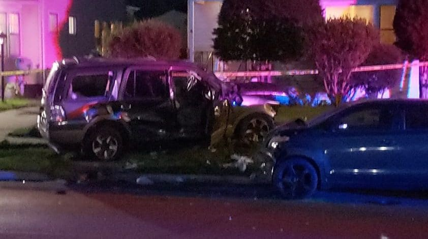 1 dead, 1 seriously injured after car crashes into four cars, rolls over in Waukegan