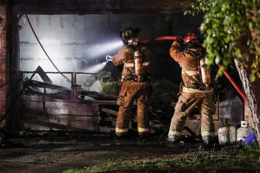 Firefighter, resident injured after garage fire in Crystal Lake