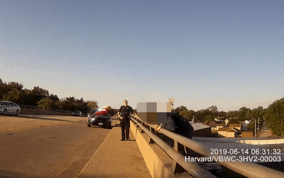 VIDEO: Harvard police officers save man as he jumped from bridge
