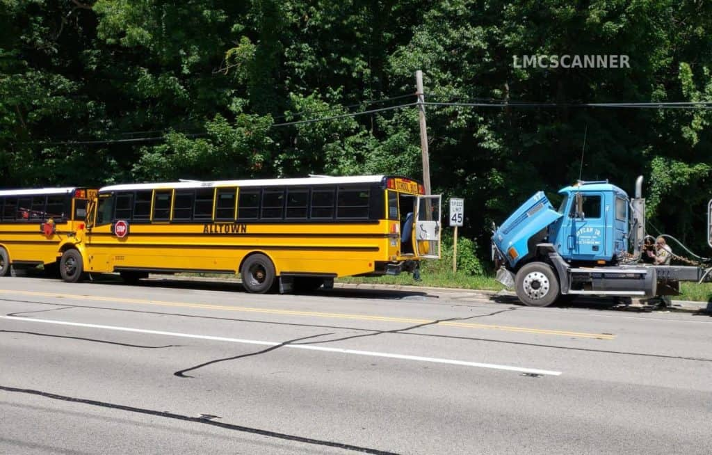 At least 17 hospitalized after three buses filled with kids, truck crash in Libertyville