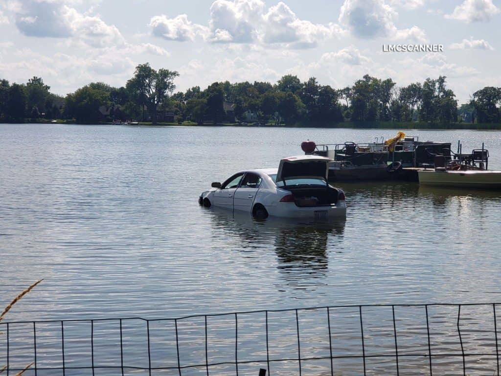 Driver uninjured after driving car into lake near unincorporated Lake Villa