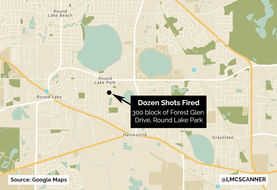 Dozen shots fired at Round Lake Park home while 3 infants, other people were inside, police chief says