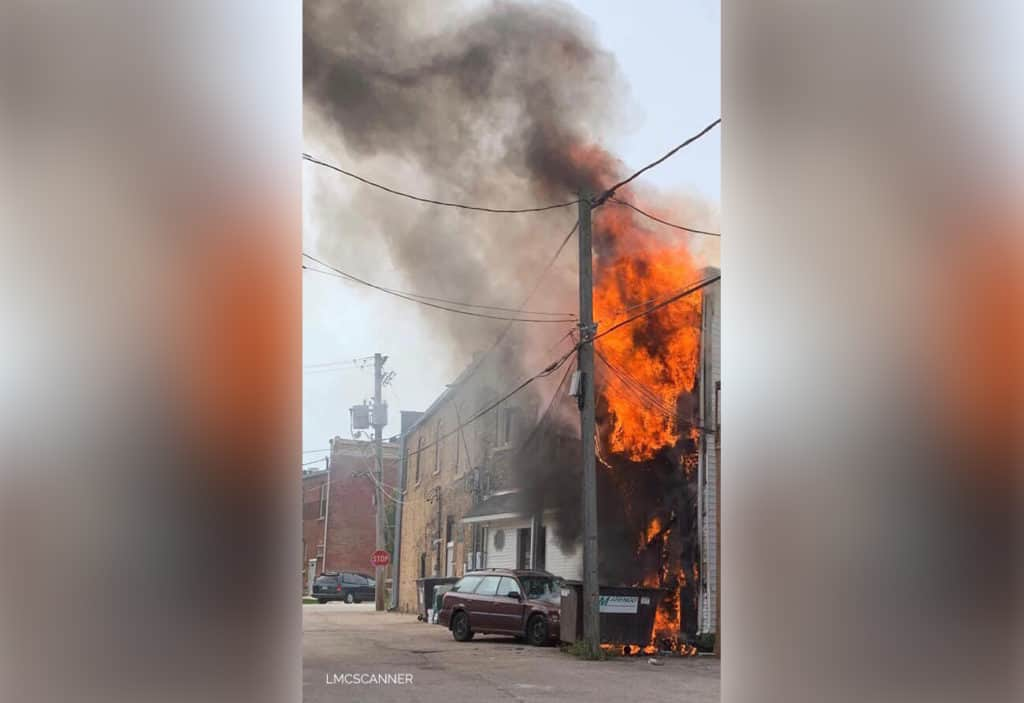 Firefighters respond to extra-alarm fire in downtown Marengo