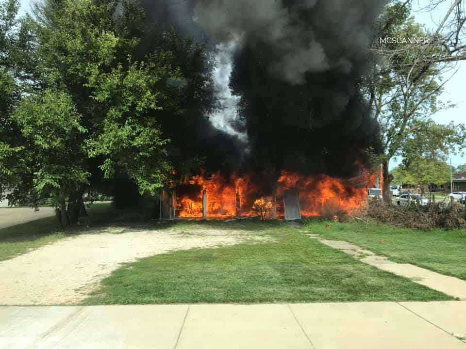 Firefighters responding to second structure fire in Marengo just 2 hours after first fire