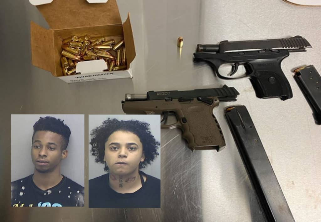 Two charged after officers find stolen gun, ammunition during traffic stop in Zion