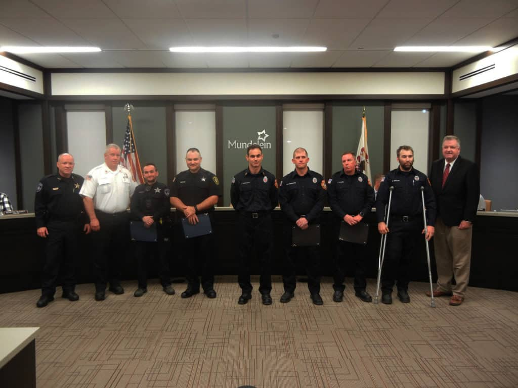 Police officers, paramedics honored for saving 15-year-old boy shot in the neck in Mundelein