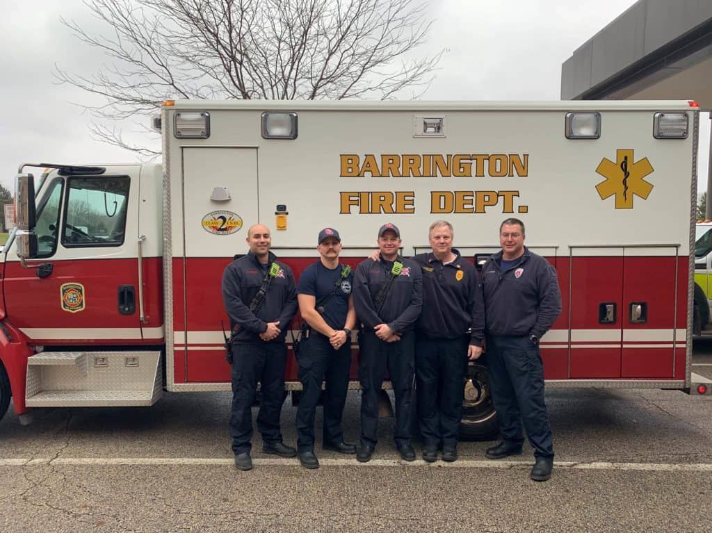 Firefighters, paramedics recognized for saving 2-month-old baby found unresponsive in Barrington